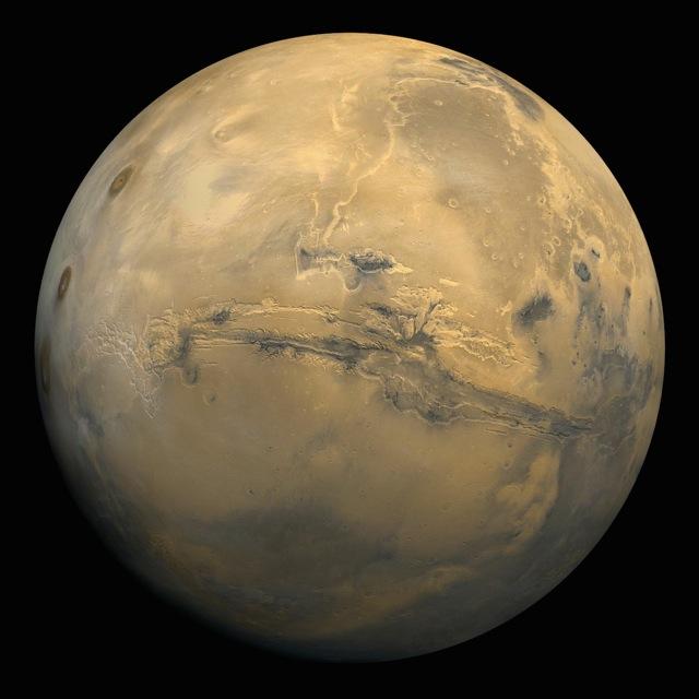 Обнаружен новый кратер на Марсе