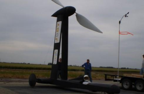 Проведены испытания ветромобиля