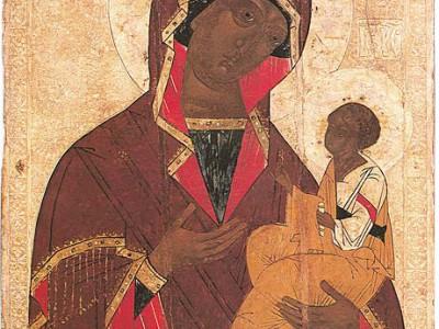 подписная икона Богоматери Одигитрии