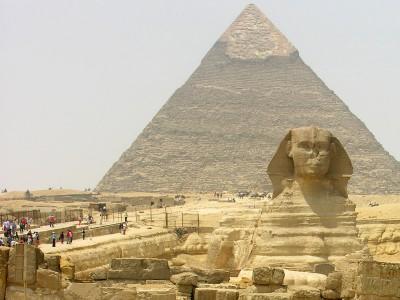 Пирамида Хеопса и Сфинкс