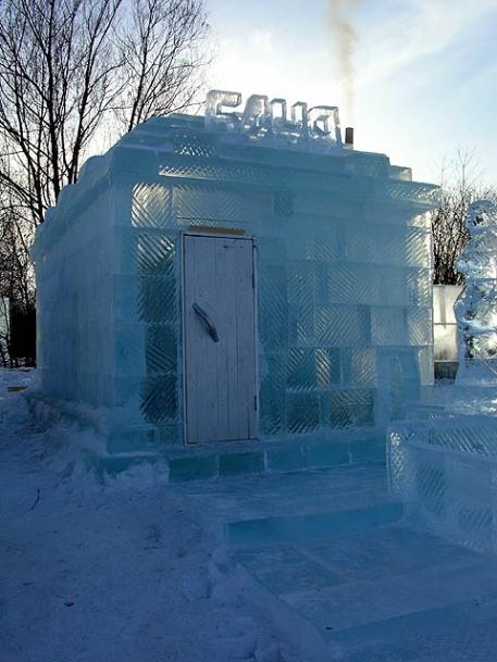 Уникальная баня из льда