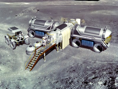 Лунная база. Концепт NASA 1993 года.
