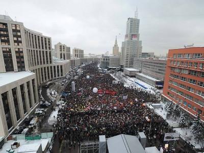 Митинг в Москве на проспекте Сахарова 24.12.2011