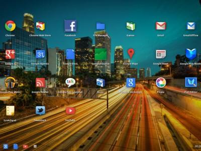Скриншот Chrome OS