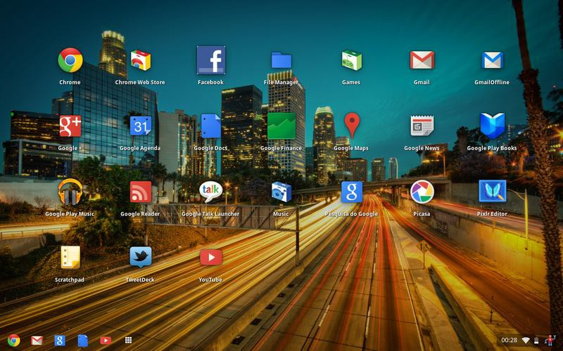 Chrome OS с новым интерфейсом