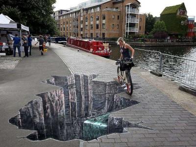 Классические трехмерные рисунки в Лондоне