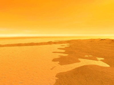 Метановое озеро на поверхности Титана