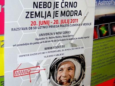 Выставка, посвященная Юрию Гагарину в Словении