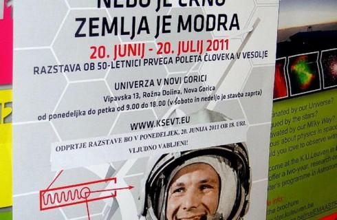 Гагарин в Словении
