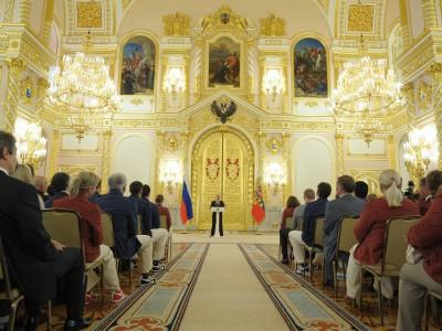 Владимир Путин и спортсмены