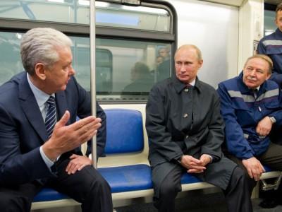 Putin v metro