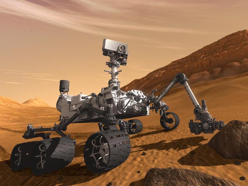Марсоход Curiosity на прямой связи с Землей