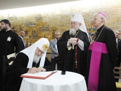 Патриарх Кирилл и архиепископ Юзеф Михалик
