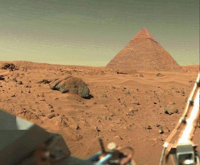 На Марсе найдена пирамида