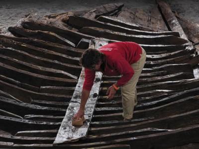 Остатки древнеримского корабля, найденные в бухте Антиб