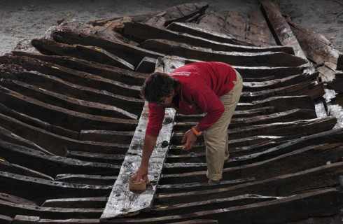 Древнеримский корабль в бухте Антиб