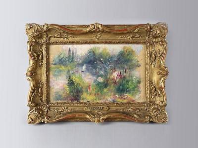 «Пейзаж на берегу Сены» 1879 год.