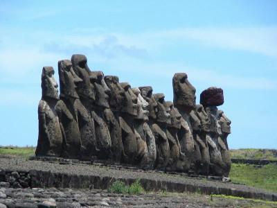 Каменные истуканы с острова Пасхи