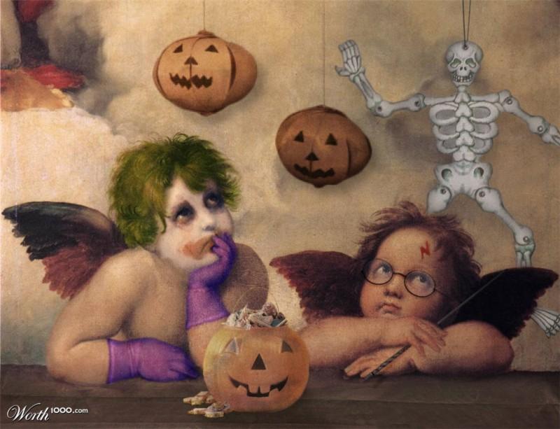 Картины в костюмах для Хэллоуина