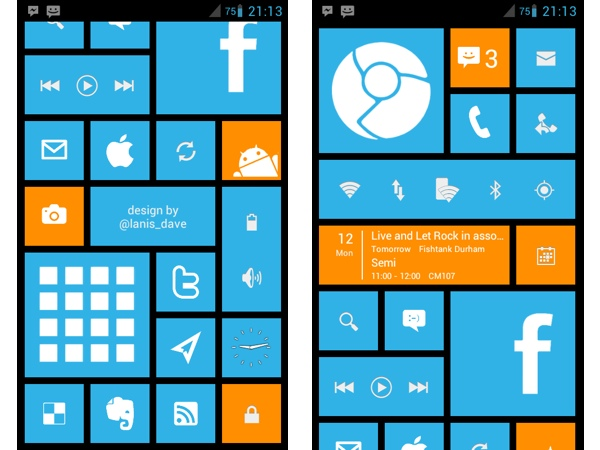 WP 8 Launcher для Android