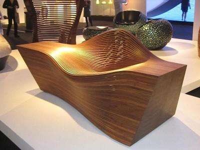 Необычный диван на выставке Design Miami