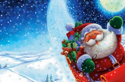Санта-Клаус вернулся в свою резиденцию