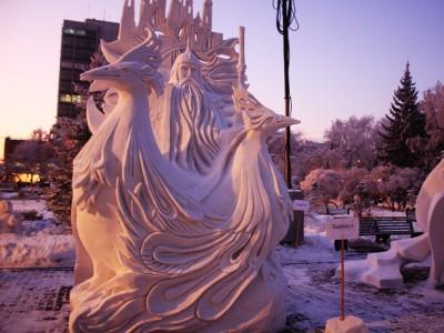 Снежный фестиваль в Новосибирске