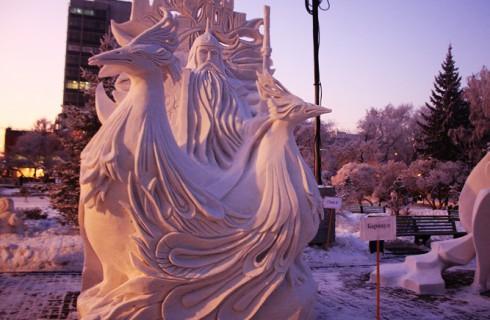 Снежная битва в Новосибирске