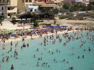 Пляж острова Лампедуза