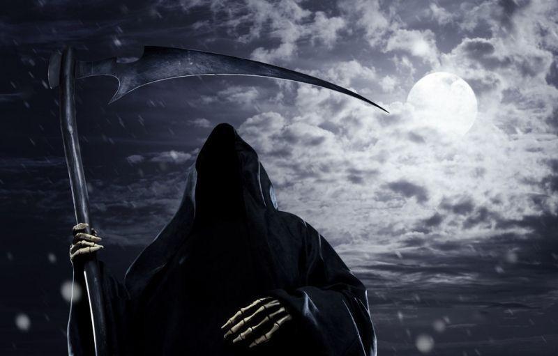 Пешеходов защитила «Смерть c косой»