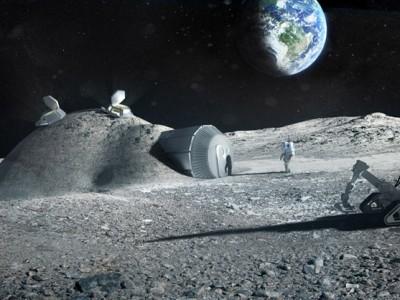 Возможный вид будущей лунной станции