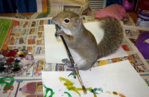 Белка-художница