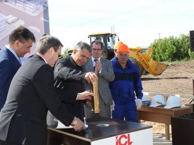 2012 год — президент Татарстана закладывает временную капсулу
