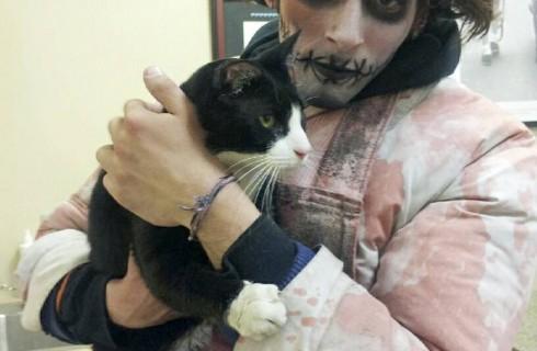 Зомби вернул кота хозяину