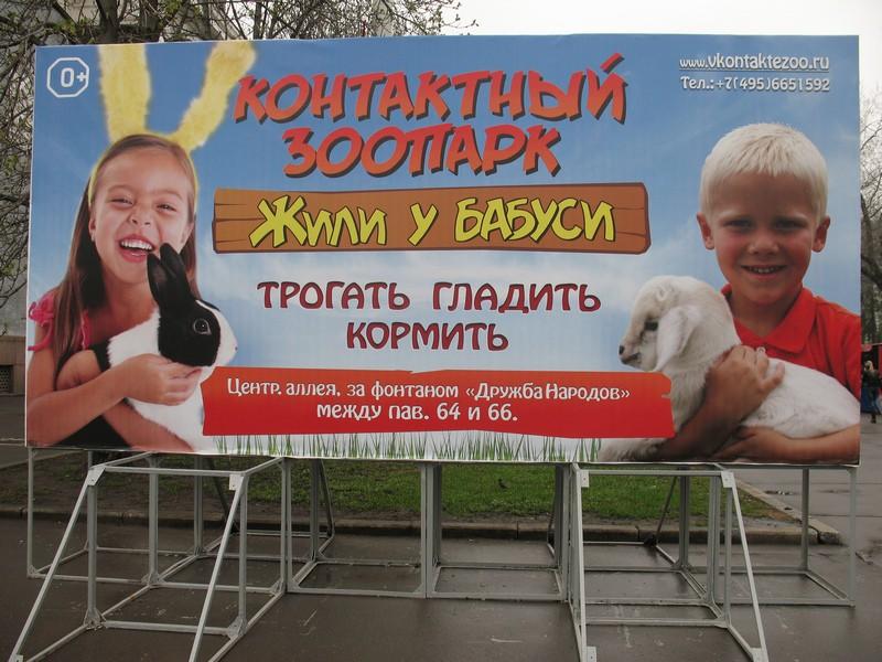 Контактный зоопарк заработал в Москве