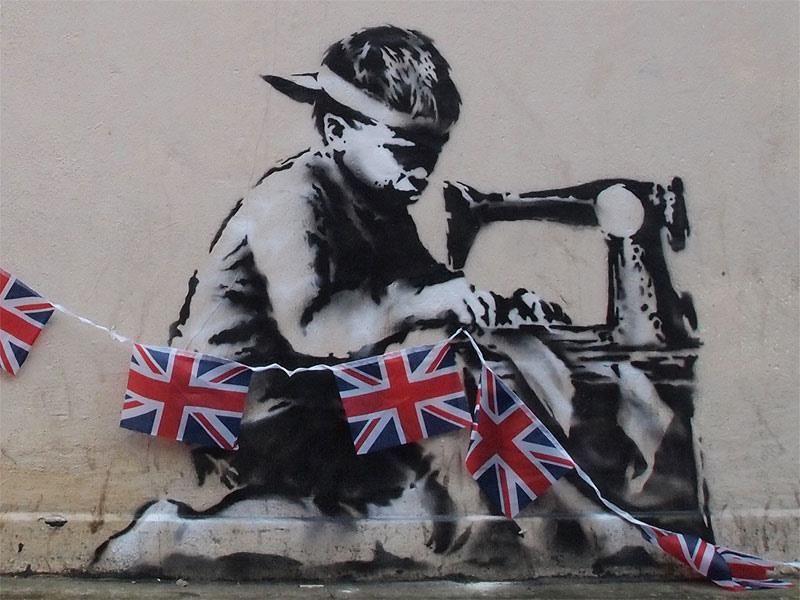 Граффити Бэнкси было продано на аукционе