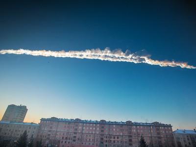 След от падения метеорита Челябинск