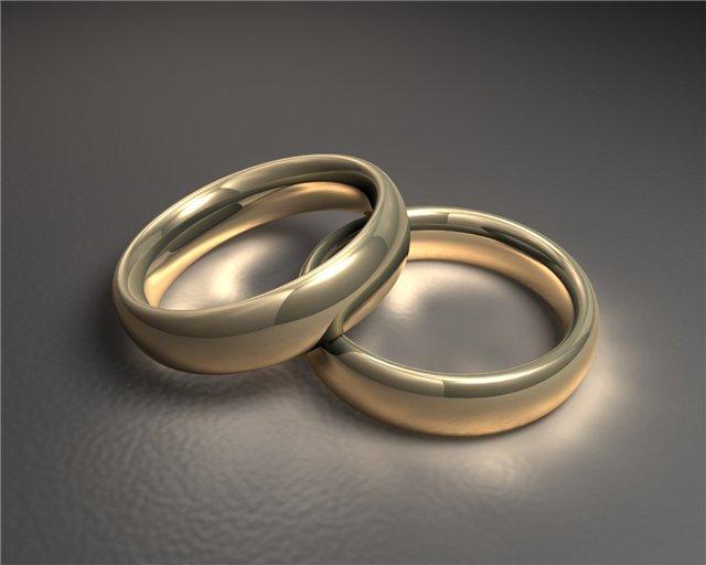 Обручальные кольца и серьги с бриллиантом