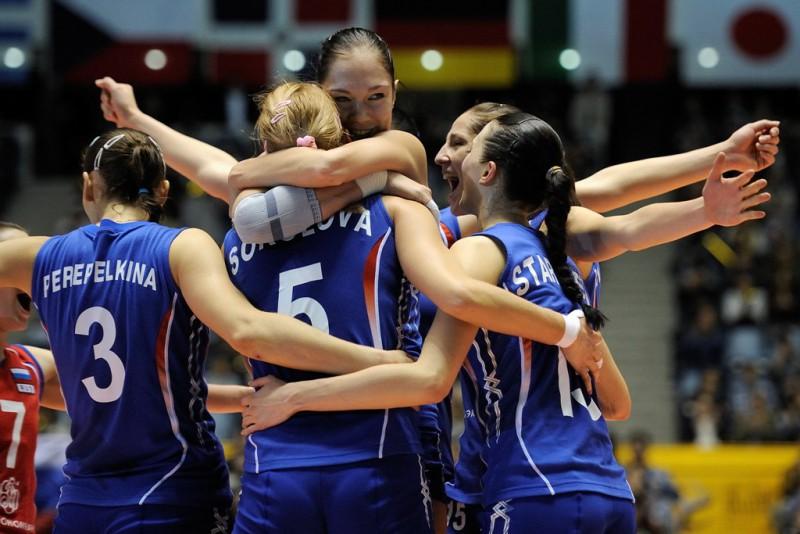 Нелегкая победа российских волейболисток