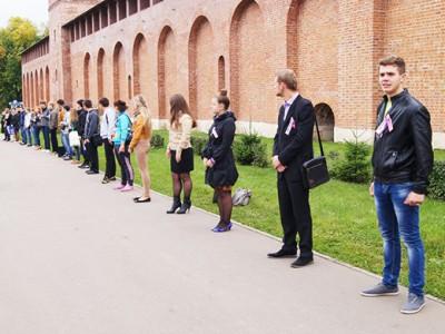 Акция «Живая стена» в Смоленске