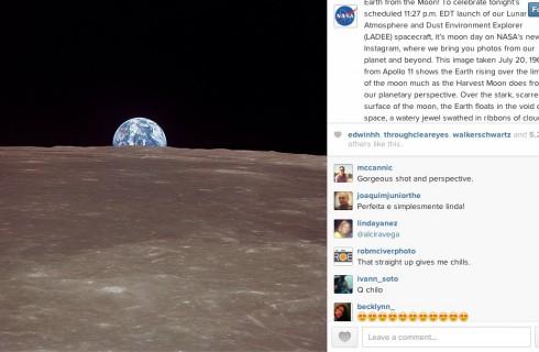 NASA появилось в Instagram
