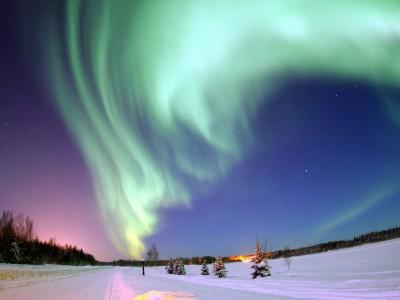 Лапландия. Северное сияние.