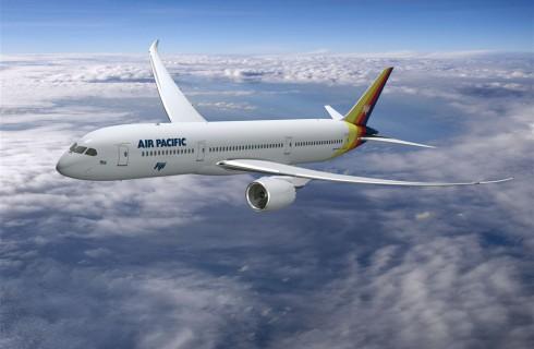 Первый полет нового Dreamliner 787-9