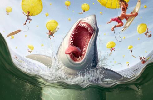 Серфингист дал отпор акуле-людоеду