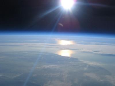Вид на Землю из стратосферы
