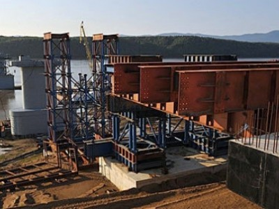 Строительство моста на Большой Уссурийский остров