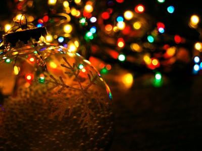 Гирлянда на новогодней елке