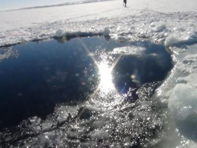 Озеро Чебаркуль после падения метеорита