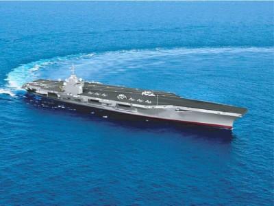 Новейший авианосец спустили на воду в США