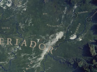 Google презентовала миру карту Средиземья